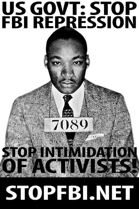 MLK Stop FBI Repression poster