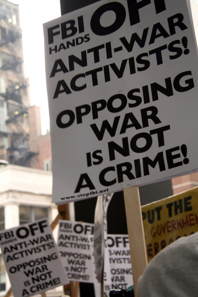Opposing war is not a crime!