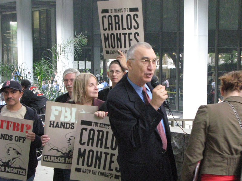 "Government continues trumped up case against Carlos Montes, Protest demands ""Drop the charges now"" at LA courthouse"