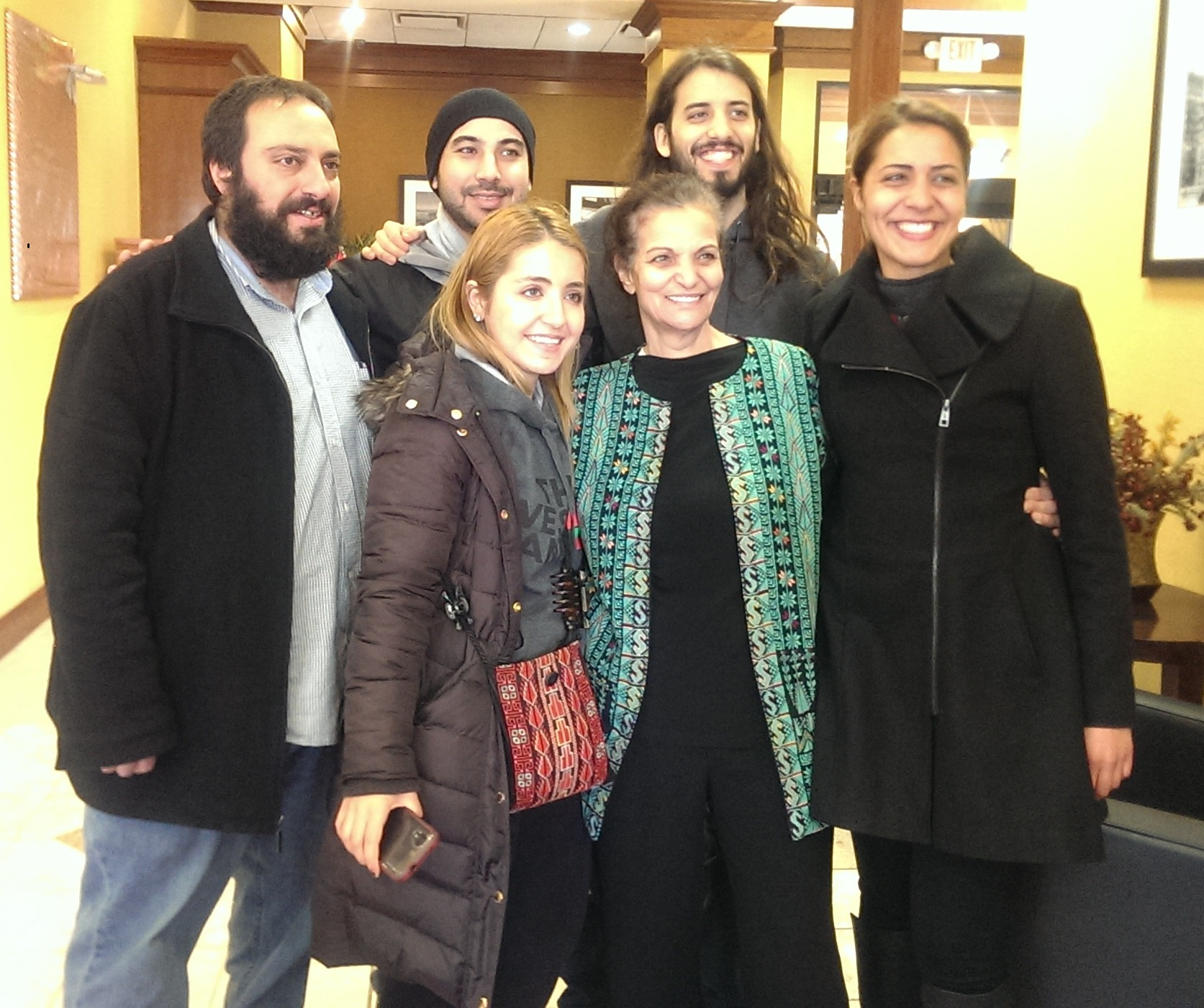 Out of jail! Rasmea is with her family and returning home to Chicago.