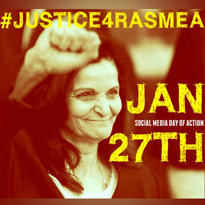 Wednesday, Jan. 27 Social Media Campaign: #Justice4Rasmea!